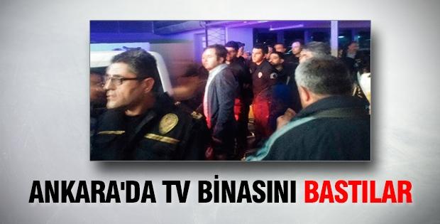 Ankara'da TV binasını bastılar