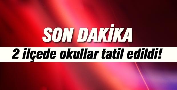 Antalya'da 2 ilçede okullar tatil edildi