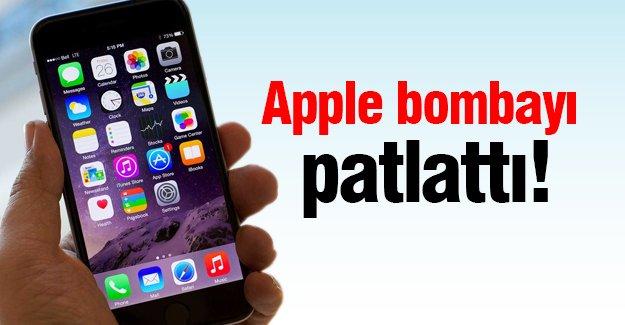Apple bombayı patlattı!