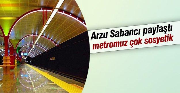 Arzu Sabancı Etiler metrosundan fotoğraf paylaştı