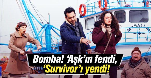 'Aşk'ın fendi, 'Survivor'ı yendi!
