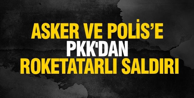 Asker ve Polise PKK'dan roketatarlı saldırı