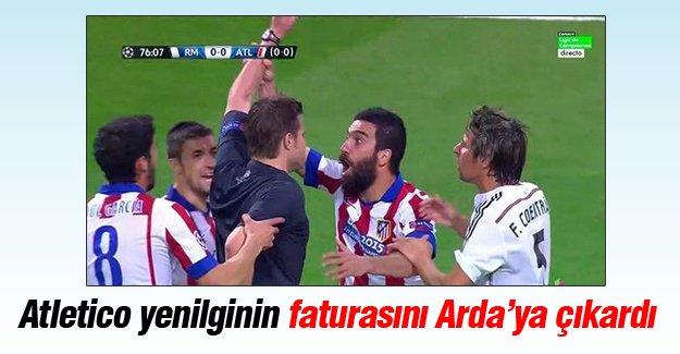 Atletico yenilginin faturasını Arda'ya çıkardı