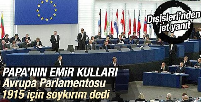 Avrupa Parlamentosu'ndan Şok 'Soykırım' Kararı!