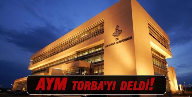 AYM Torba'yı deldi!