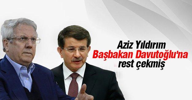 Aziz Yıldırım, Başbakan Davutoğlu'na rest çekti