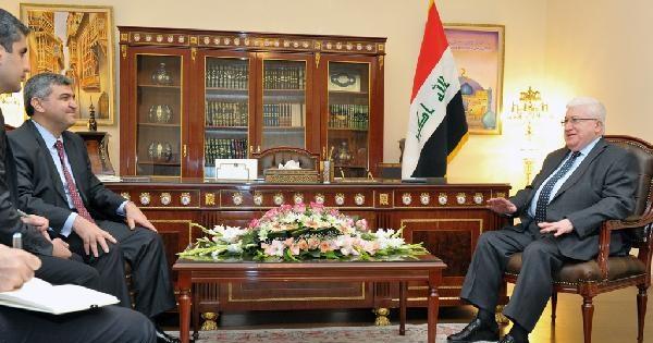 Bağdat Büyükelçisinden Irak'in Yeni Cumhurbaşkanı Masum'u Ziyaret Etti