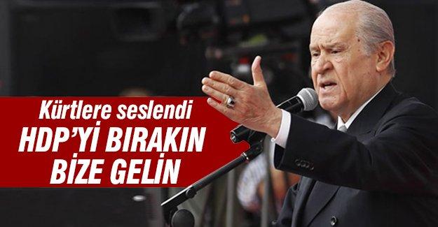 Bahçeli'den Kürtler'e çağrı: MHP'ye gelin