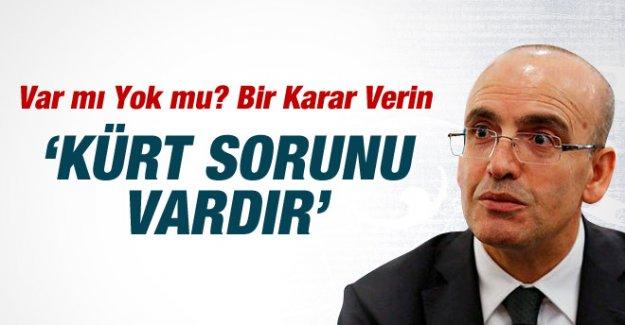 """Bakan Mehmet Şimşek: """"Kürt Sorunu Vardır"""""""