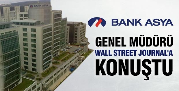 Bank Asya Genel Müdürü Wall Street Journal'a konuştu