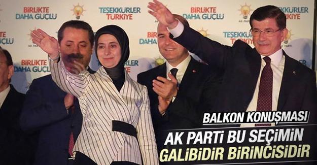 Başbakan Ahmet Davutoğlu'nun balkon konuşması