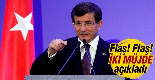 Başbakan Davutoğlu 2 müjde verdi!
