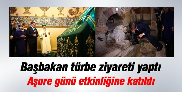Başbakan Davutoğlu Hacı Bektaş-ı Veli Türbesi'ni ziyaret etti