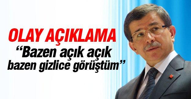 Başbakan Davutoğlu'ndan olay açıklama