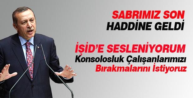"""Başbakan Erdoğan: """"ışid'e Sesleniyorum. Konsolosluk Çalişanlarimizi Bırakmalarını İstiyoruz"""""""