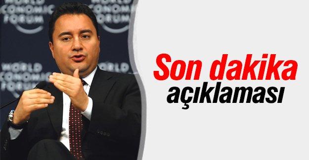 Başbakanlık'tan Ali Babacan açıklaması