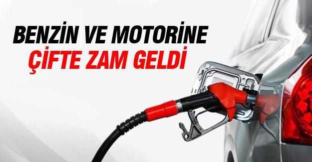 Benzin ve motorine çifte zam