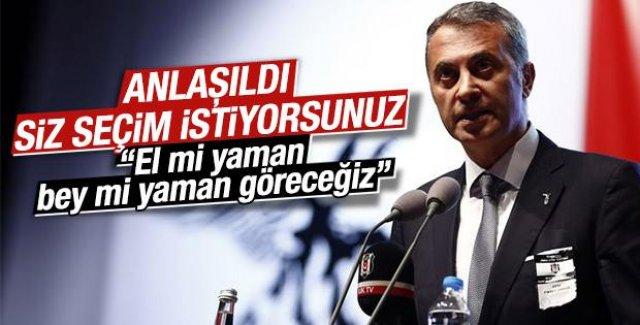 Beşiktaş Başkanı Fikret Orman'dan seçim resti