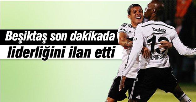 Beşiktaş son dakikada liderliğini ilan etti