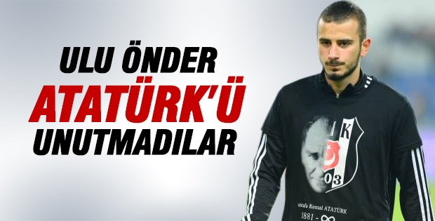 Beşiktaşlı futbolcular, Ulu Önder Atatürk'ü unutmadılar