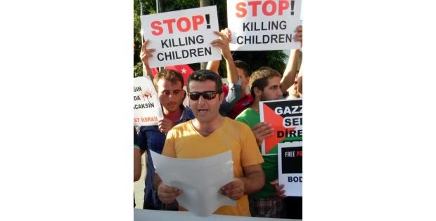 Bodrum'da Taraftarlardan Filistin'e Destek