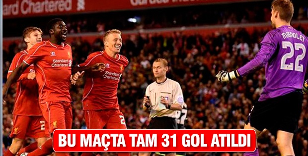 Bu maçta tam 31 gol atıldı