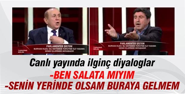 Burhan Kuzu ve HDP'li Altan Tan'ın ilginç tartışması