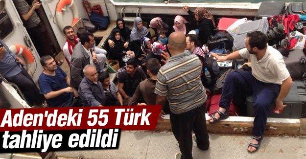 Çavuşoğlu: Aden'deki 55 Türk tahliye edildi