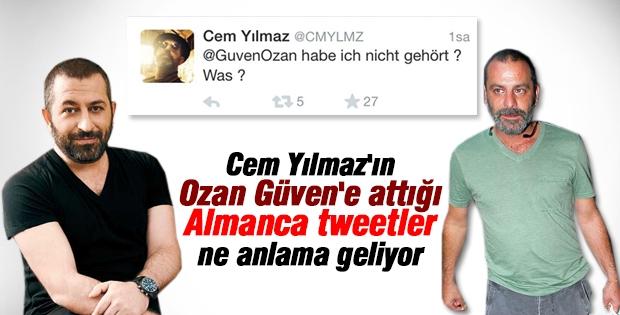 Ozan Güven'e attığı Almanca tweetlerdeki mesaj nedir?