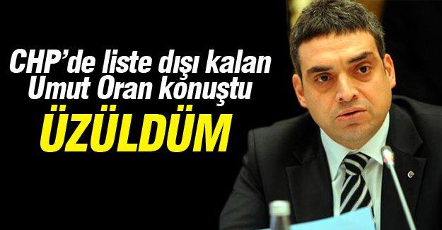 CHP'de liste dışı kalan Umut Oran konuştu