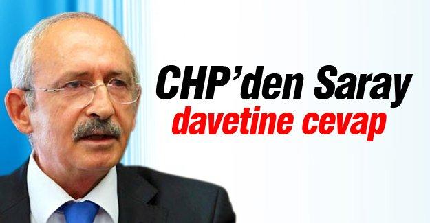 CHP'den Saray davetine cevap