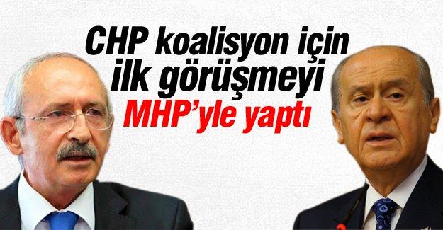 CHP koalisyon için ilk görüşmeyi MHP'yle yaptı