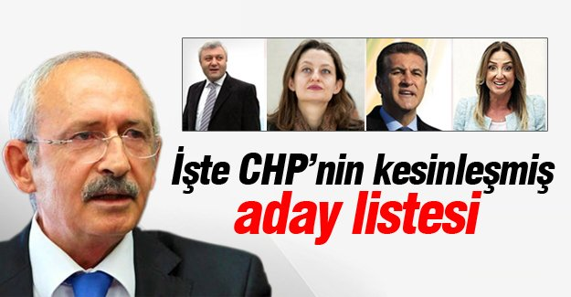 CHP'nin kesinleşmiş aday listesi