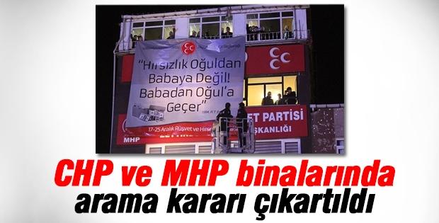 CHP ve MHP binaları için arama kararı çıkartıldı!