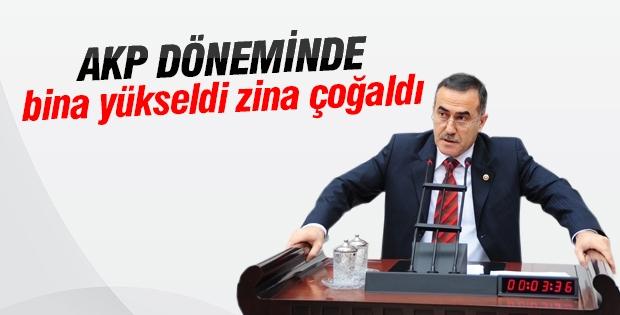 CHP'li Özkes: AKP döneminde bina yükseldi, zina çoğaldı