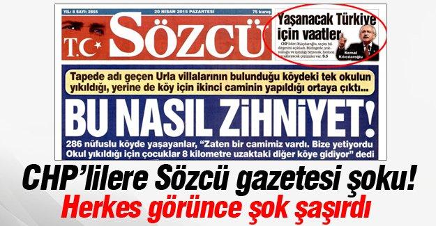 CHP'lilere Sözcü gazetesi şoku!