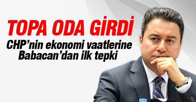 CHP'nin vaatlerine Babacan'dan ilk tepki geldi