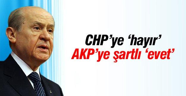 CHP'ye 'hayır', AK Parti'ye şartlı 'evet'