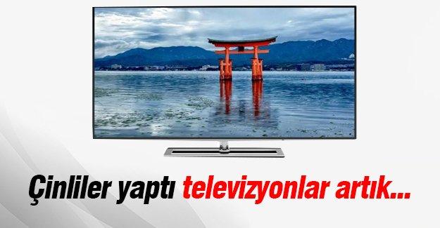 Çinliler yaptı televizyonlar artık...