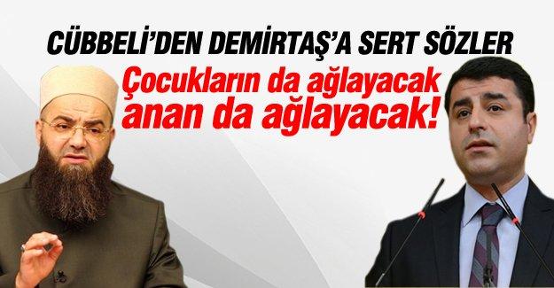 Cübbeli Ahmet Hoca'dan Demirtaş'a çok sert sözler