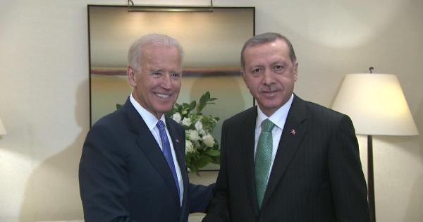 Cumhurbaşkanı Erdoğan, Abd Başkan Yardımcısı Bıden İle Görüştü
