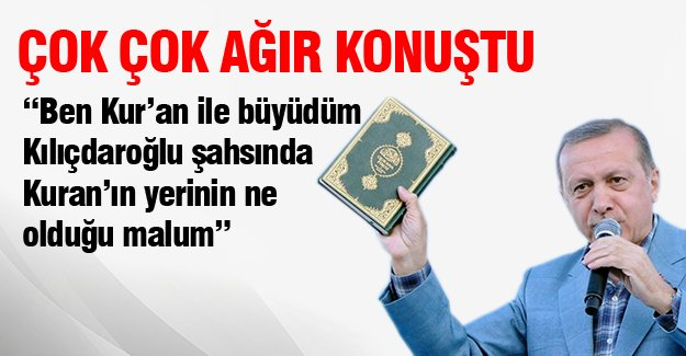 Cumhurbaşkanı Erdoğan çok ağır konuştu!