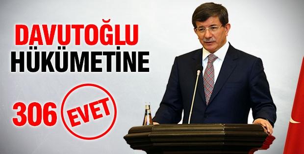 Davutoğlu hükümetine '306' EVET