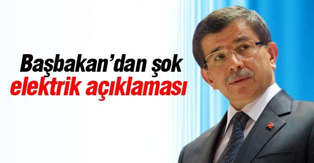 Davutoğlu'ndan elektrik kesintisi açıklaması
