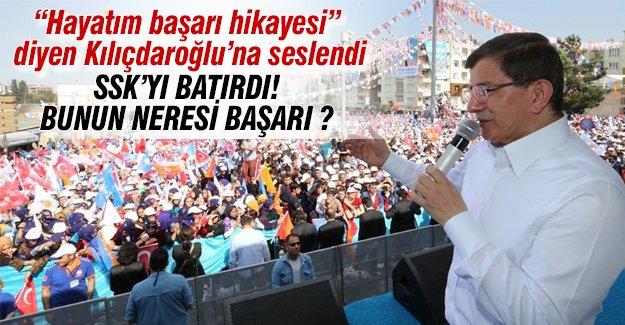 Davutoğlu'ndan Kılıçdaroğlu'na: Bunun neresi başarı?