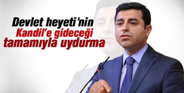 Demirtaş: Devlet heyetinin Kandil'e gideceği uydurma