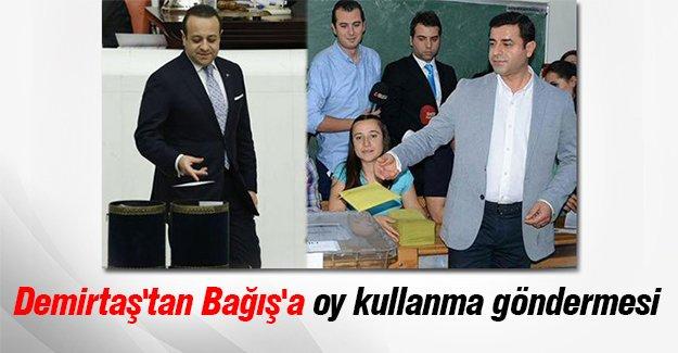 Demirtaş'tan Egemen Bağış'a oy kullanma göndermesi