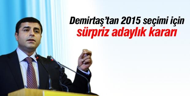 Demirtaş'tan 2015 seçimi için sürpriz adaylık kararı