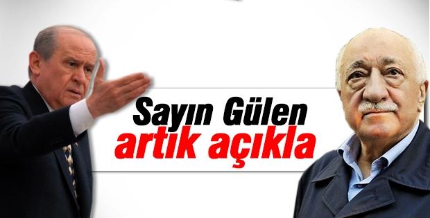 Devlet Bahçeli, Gülen'e