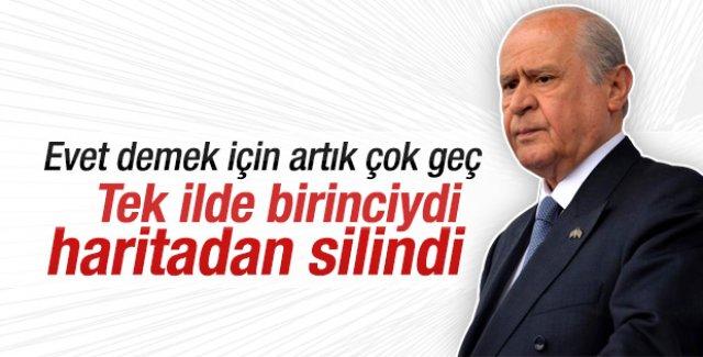 Devlet Bahçeli MHP'nin oylarını düşürdü